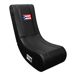 Game Rocker 100 Gaming Chair with Puerto Rican Flag in Black