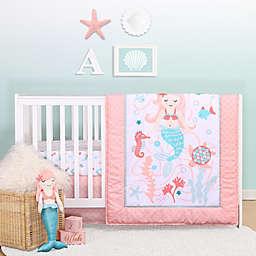 the peanutshell™ Mermaid Kisses 3-Piece Crib Bedding Set