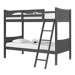 Thomasville Kids Newport Rubberwood Convertible Twin Bunk Bed in Grey