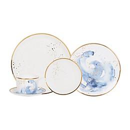Olivia & Oliver™ Harper Splatter Gold 5-Piece Place Setting in Blue