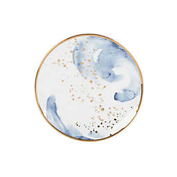 Olivia & Oliver™ Harper Splatter Gold Appetizer Plates in Blue (Set of 4)