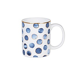 Olivia & Oliver™ Harper Dot Gold Mug in Blue