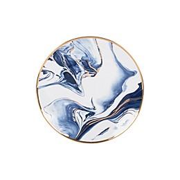 Olivia & Oliver™ Harper Marble Gold Salad Plate in Blue