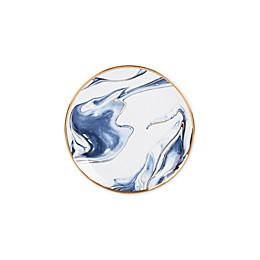 Olivia & Oliver™ Harper Marble Gold Appetizer Plate in Blue