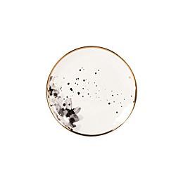 Olivia & Oliver™ Harper Splatter Gold Floral Appetizer Plate in Grey