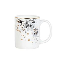Olivia & Oliver™ Harper Splatter Gold Floral Mug in Grey