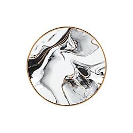 Olivia & Oliver™ Harper Marble Gold Salad Plate in Grey