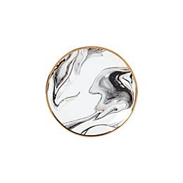 Olivia & Oliver™ Harper Marble Gold Appetizer Plate in Grey