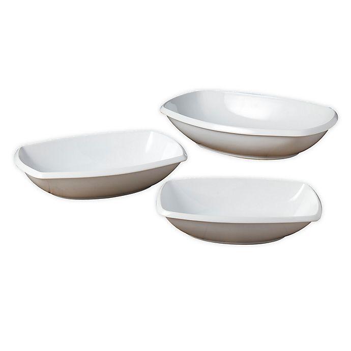 Alternate image 1 for Denmark® 3-Piece Rectangular Serving Bowl Set in White