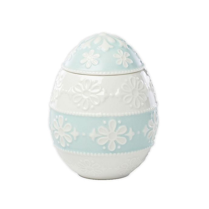 Alternate image 1 for Lenox® Easter Eyelet Warm Vanilla Small Jar Candle with Lid in Green