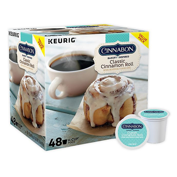 Alternate image 1 for Cinnabon® Classic Cinnamon Roll Flavored Coffee Keurig® K-Cup® Pods 48-Count
