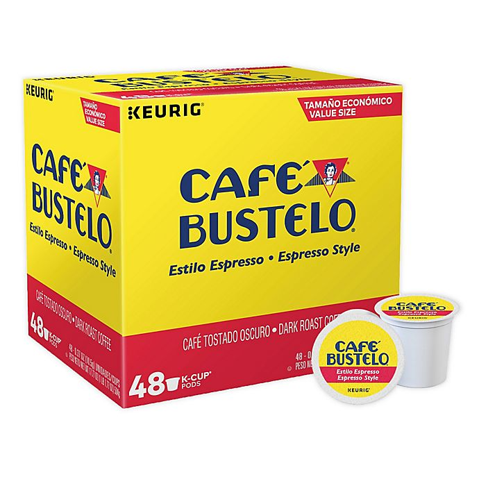 Alternate image 1 for Café Bustelo® Espresso Roast Style Coffee Keurig® K-Cup® Pods 48-Count
