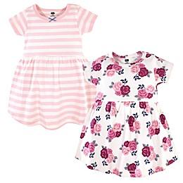 Hudson Baby® 2-Pack Blush Floral Dresses in Burgundy