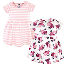 Hudson Baby® Size 3T 2-Pack Blush Floral Dresses in Burgundy