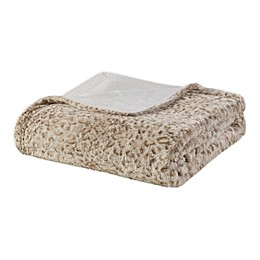 Madison Park Zuri Oversized Reversible Faux-Fur Throw