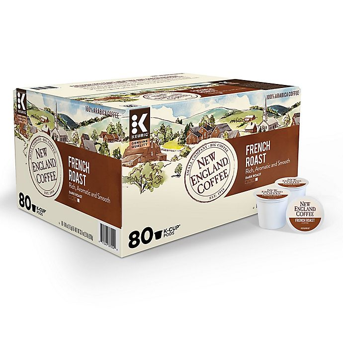 Alternate image 1 for New England Coffee® French Roast Coffee Value Pack Keurig® K-Cup® Pods 80-Count