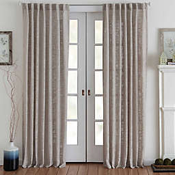 Eastwood 63-Inch Rod Pocket Window Curtain Panel in Tan