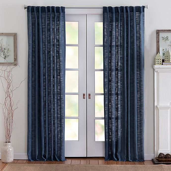 Alternate image 1 for Eastwood 63-Inch Rod Pocket Window Curtain Panel in Denim