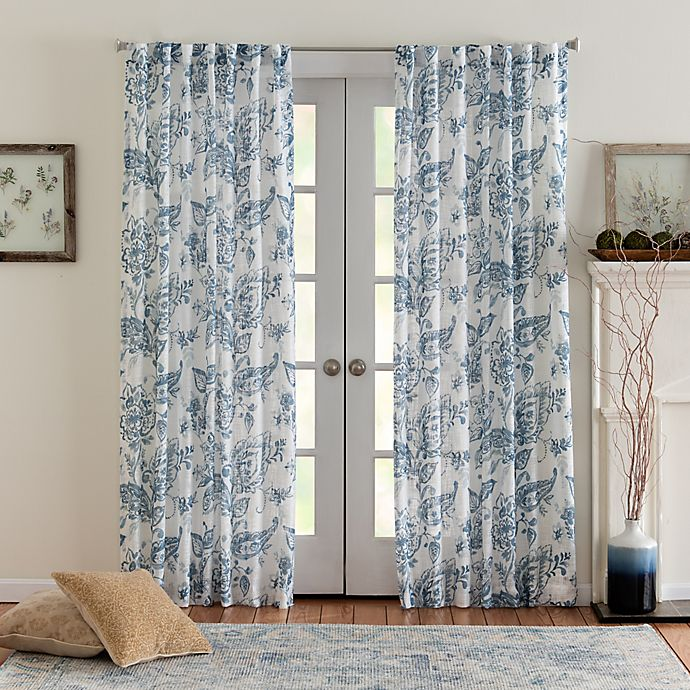 Alternate image 1 for Eastwood Mulberry 108-Inch Rod Pocket/Back Tab Window Curtain Panel in Denim