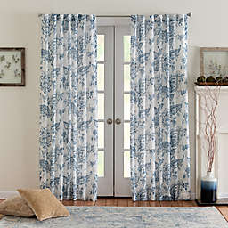 Eastwood Mulberry 108-Inch Rod Pocket/Back Tab Window Curtain Panel in Denim