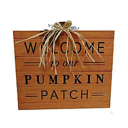 Harvest 16.5-Inch x 18-Inch Pumpkin Greeting Wood Wall Decor