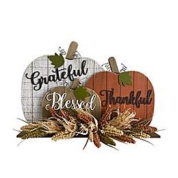 17-Inch Pumpkin Harvest Sitter Decoration