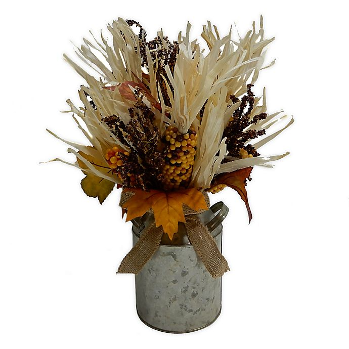 Alternate image 1 for Bee & Willow™ Home 15.5-Inch Harvest Corn Husk Centerpiece Decoration