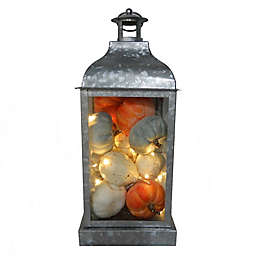 Bee & Willow™ Home 17-Inch Galvanized Lantern LED Decoration