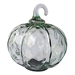 Bee & Willow™ Home 6.5-Inch Shimmer Glass Pumpkin Decoration in Emerald Green