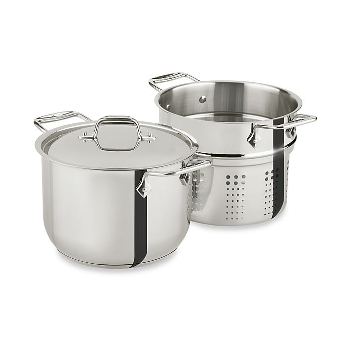 Alternate image 1 for All-Clad Stainless Steel 6-Quart Pasta Pot with Insert