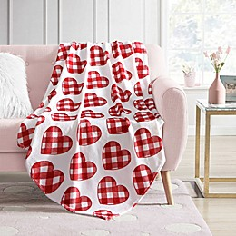 Envogue Hearts Plush Throw Blanket