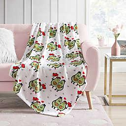 Envogue Hearts Avocado Couple Throw Blanket