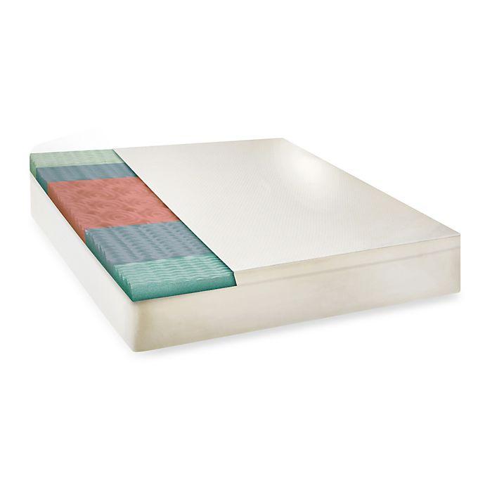 Alternate image 1 for Therapedic® 5-Zone Memory Foam Mattress Topper