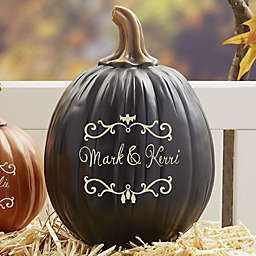 Halloween Vines Personalized Pumpkin Collection in Black