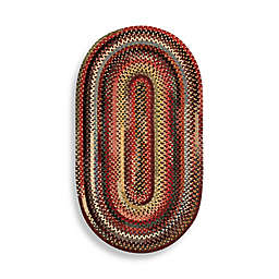 Capel Rugs Eaton Braided Oval Rug in Multicolor