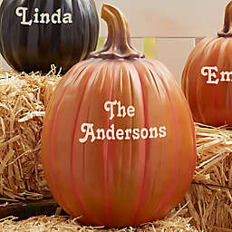 Our Family Patch Personalized Pumpkin Collection in Orange