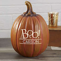 BOO! Personalized Resin Pumpkin Collection in Orange