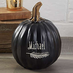 Count Your Blessings Personalized Small Pumpkin in Black