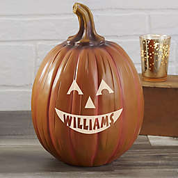 Personalized Jack-O-Lantern Large Pumpkin in Orange