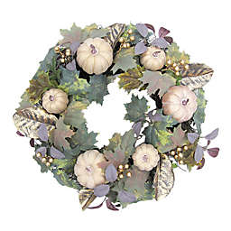Bee & Willow™ Home 24-Inch Glamorous Pumpkin Wreath in Gold