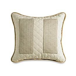 HiEnd Accents Fairfield Herringbone and Natural Linen Pocket Throw Pillow