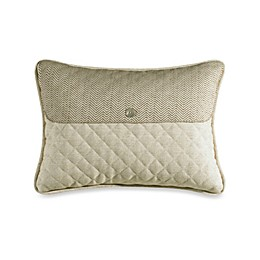 HiEnd Accents Fairfield Linen and Herringbone Envelope Throw Pillow