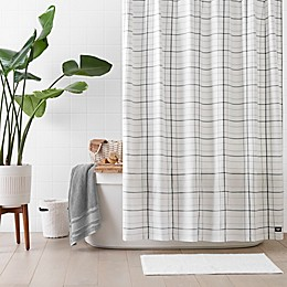 UGG® Devon Shower Curtain in White/Gray