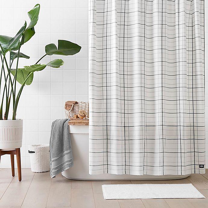 Alternate image 1 for UGG® Devon 72-Inch x 72-Inch Shower Curtain in Grey Plaid