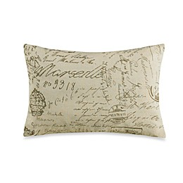 HiEnd Accents Fairfield Printed French Script Throw Pillow
