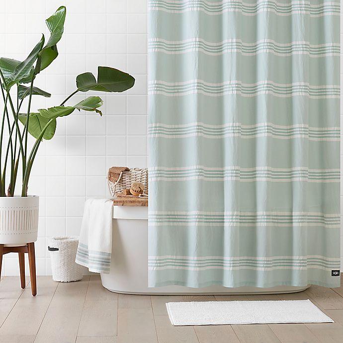 Alternate image 1 for UGG® Devon 72-Inch x 72-Inch Shower Curtain in Blue Crush Stripe