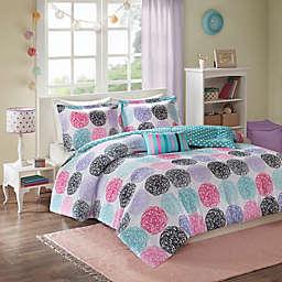 Mi Zone Carly Reversible Comforter Set in Purple