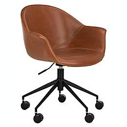 Safavieh Ember Office Chair in Light Brown/Black