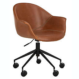 Safavieh Ember Office Chair in Light Brown/Black