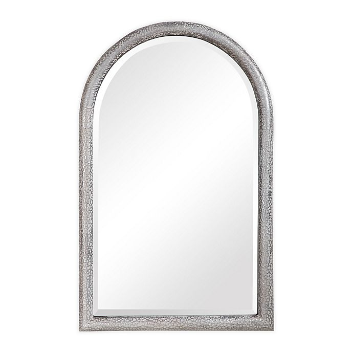 Alternate image 1 for UTTERMOST Champlain 40-Inch x 26-Inch Arch Wall Mirror in Grey